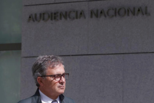 Jordi Pujol Ferrusola se dirige a la Audiencia Nacional en una de sus...