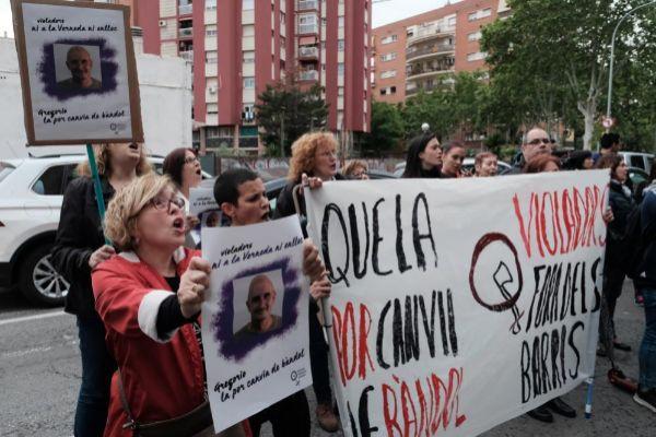 Protesta contra la puesta en libertad de Gregorio Cano Beltri.