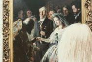 Una joven contemplando el cuadro 'El matrimonio desigual', de Vasili Pukirev, en la galería Tretiakov.