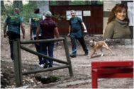 Agentes de la Guardia Civil en el operativo de búsqueda de la medallista olímpica este domingo en la sierra de Madrid.