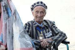 Un superviviente del Holocausto, en el homenaje en Varsovia por el 80 aniversario del inicio de la II Guerra Mundial.
