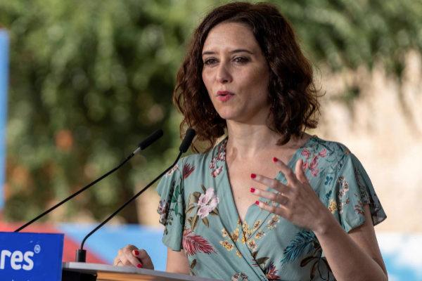 Isabel Díaz Ayuso, en un acto este fin de semana.