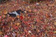 La Diada del año pasado, a su paso por la Diagonal de Barcelona