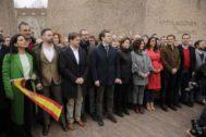 Concentración por la unidad de España en la Plaza de Colón.