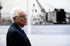 Josep Borrell, en una visita al campo de concentración nazi de Treblinka el pasado sábado.