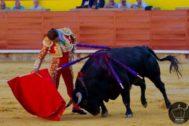 Antonio Ferrera, toreando este lunes en Palencia.