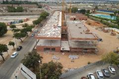 Estado actual de las obras del colegio Ciutat de Cremona, paralizadas desde el pasado mes de julio.