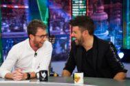 Pablo Motos y Pablo López en El Hormiguero en Antena 3, donde el cantante desveló por qué su mánager le llama 'la nutria'