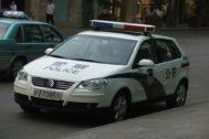 Un coche de la policía China.