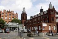 Fachada del hospital infantil de Birmingham.