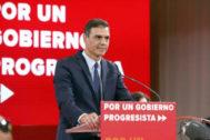 Pedro Sánchez, en el acto celebrado este martes en Madrid.