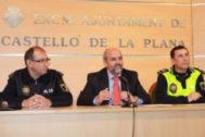 El intendente jefe Domingo Palomo (izq.), será el 'número 2' de la Policía Local.