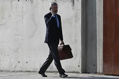 El ex ministro del PP Ángel Acebes a su llegada a la Audiencia Nacional, este lunes.