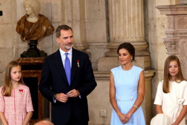 La familia Borbón-Ortiz, al completo.