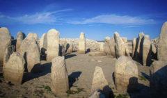 El dolmen que estaba sumergido en las aguas del pantano de Valdecañas