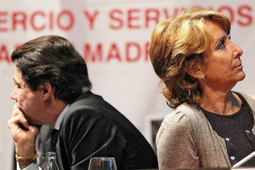 Esperanza Aguirre e Ignacio González en un acto en Madrid.