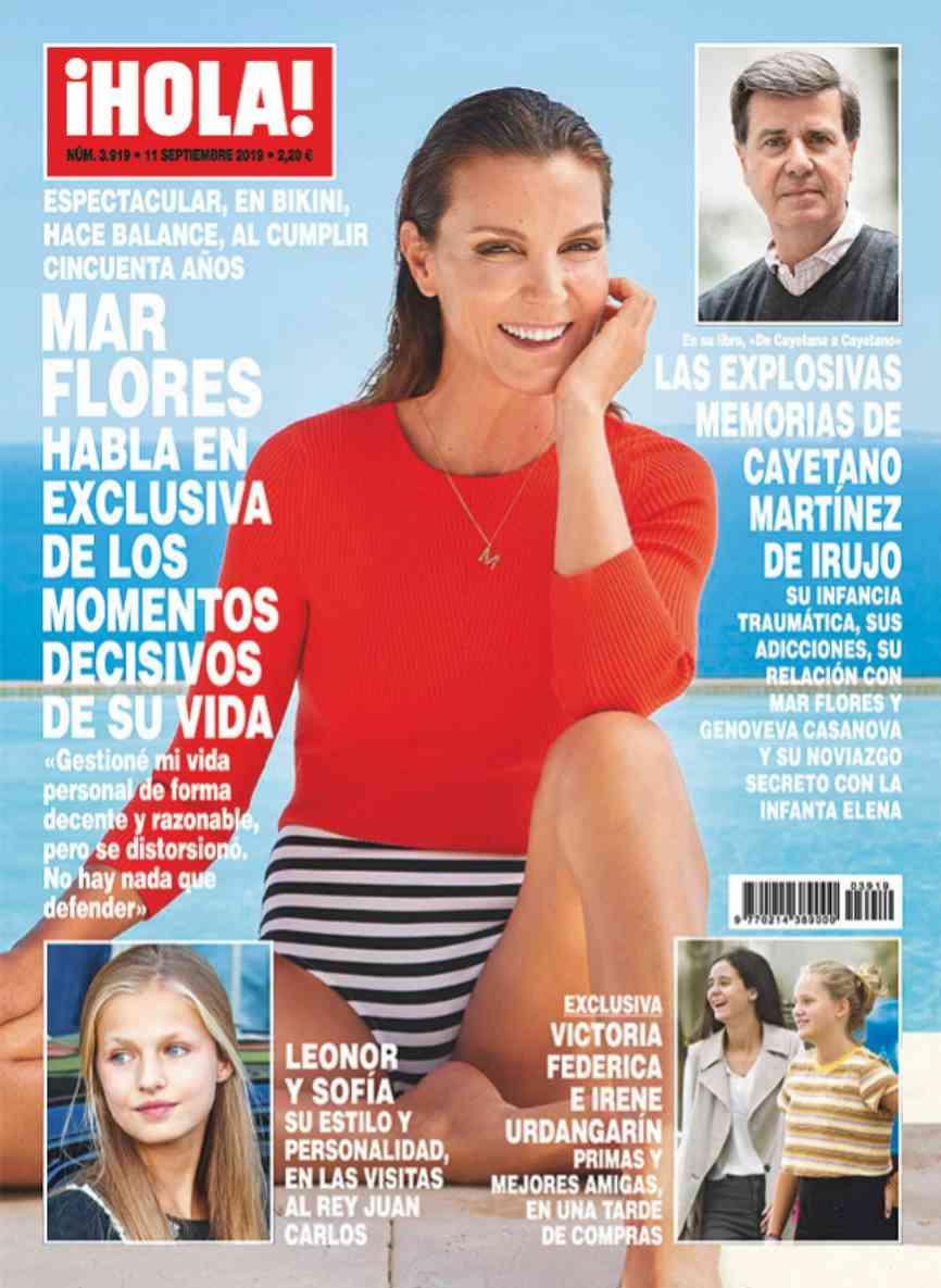 La ex modelo Mar Flores cumple 50 años y la revista ¡Hola! aprovecha...