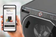 Pantalla de un teléfono movil donde se configuran los pedidos de detergente.
