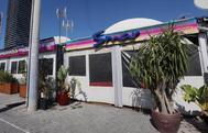 Terraza exterior de la discoteca Smar, donde se produjo el apuñalamiento