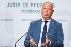 El consejero de Educación, Javier Imbroda, este martes tras el Consejo de Gobierno.