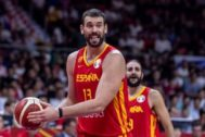 Guangzhou (China).- <HIT>Marc</HIT> <HIT>Gasol</HIT> of Spain (L) and Ricky Rubio of Spain (R) in action during the FIBA Basketball World Cup 2019 match between Puerto Rico and Spain in Guangzhou, China, 02 August 2019. (Baloncesto, España) EPA/