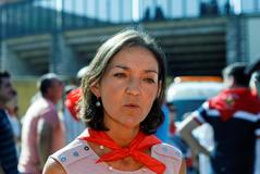 La ministra de Industria, Comercio y Turismo, <HIT>Reyes</HIT> <HIT>Maroto</HIT>, en un acto celebrado en Segovia.