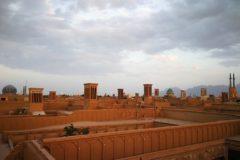 Torres atrapavientos en la ciudad de Yazd