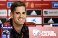 Bucharest (Romania).- Spanish national soccer team head coach <HIT>Robert</HIT> <HIT>Moreno</HIT> smiles during a press conference in Bucharest, Romania, 04 September 2019. Spain will face Romania in their UEFA EURO 2020 Group F qualifying soccer match on 05 September 2019. (Rumanía, España, Bucarest) EPA/<HIT>ROBERT</HIT> GHEMENT