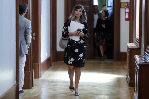 La diputada de Unidas Podemos Yolanda Díaz, a su llegada a la...