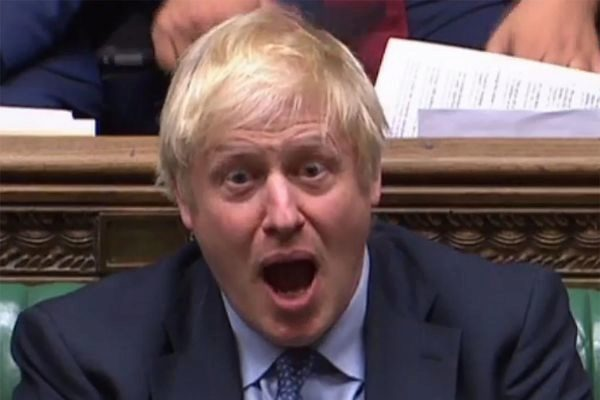 El primer ministro británico, ayer en la Cámara de los Comunes.