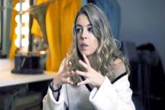 La ex Operación Triunfo 2017, Nerea Rodríguez, durante la entrevista.