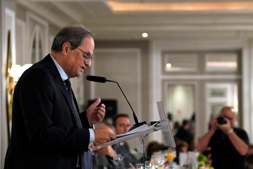El presidente de la Generalitat, Quim Torra, en su primera...