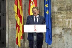El presidente de la Generalitat, Ximo Puig, ayer en su comparecencia ante los medios de comunicación.