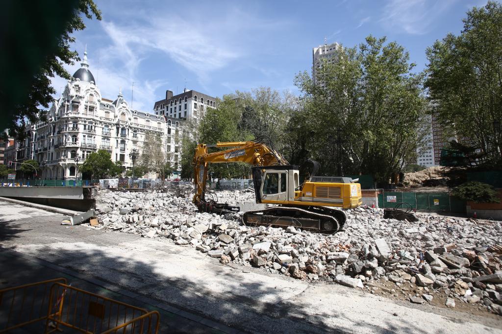 Obras en el túnel de Bailen por la remodelación de Plaza España