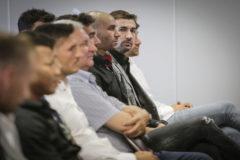 Gabi, junto al resto de ex jugadores del Zaragoza imputados por amaño.
