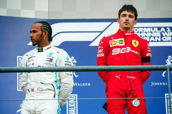 Stavelot (Belgium).- Monaco's Formula One driver Charles Leclerc (R)...