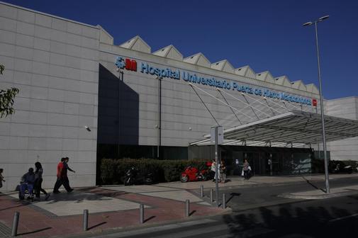 Entrada al hospital Puerta de Hierro