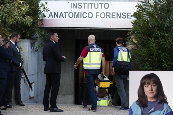 Agentes de la Policía entran al Instituto Anatómico Forense.