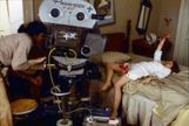 Momento del rodaje de la película 'El exorcista', en 1974.