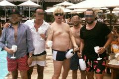 El líder de la trama Carlos García Roldán, alias 'Charly' en un beach club.