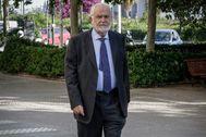 Juan Cotino en una imagen reciente acudiendo a sede judicial por un asunto pendiente.