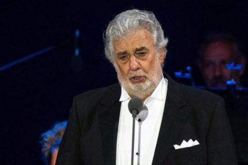 Plácido Domingo durante la ceremonia de inauguración del escenario...