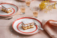 Recetas saludables con Thermomix: milhojas caramelizado con crema y merengue