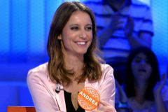 Andrea Levy, en el plató de 'Pasapalabra'.