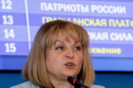 FILE PHOTO: Head of Central Election Commission <HIT>Pamfilova</HIT> attends news conference on preliminary results of parliamentary election in Moscow