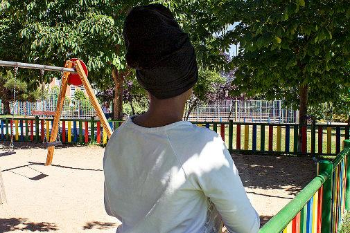 Bibaza (pseudónimo), niña 'mena' de 15 años que vive en un centro...