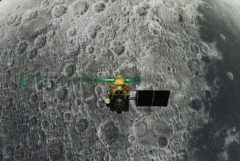 "This screen grab taken from a live webcast by Indian Space Research Organisation (ISRO) on August 6, 2019 shows Vikram Lander before it is supposed to land on the Moon. - Chandrayaan-2 space exploration mission consisting of a lunar orbiter, a lander named 'Vikram', and a lunar rover named 'Pragyan', all of which were developed in <HIT>India</HIT>, was launched from Satish Dhawan Space Centre in Sriharikota on 22 July 2019 by the Geosynchronous Satellite Launch Vehicle (GSLV) Mark III. (Photo by Handout / Indian Space Research Organisation (ISRO) / AFP) / RESTRICTED TO EDITORIAL USE - MANDATORY CREDIT ""AFP PHOTO / INDIAN SPACE RESEARCH ORGANISATION"" - NO MARKETING NO ADVERTISING CAMPAIGNS - DISTRIBUTED AS A SERVICE TO CLIENTS ---"