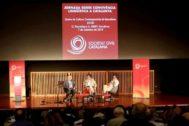 Antonio Moreno 07.09.2019 Barcelona Cataluña. Jornadas Sobre Convivéncia Lingüistica A Catalunya , acto de Sociedad Civil Catalana.