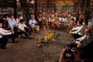 Los presidentes Morales, Duque, Moreno y Vizcarra, durante la cumbre amazónica.