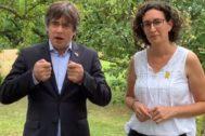 Puigdemont y Rovira en el vídeo de la ANC